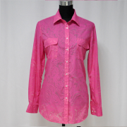 Ladies' woven dress shirt